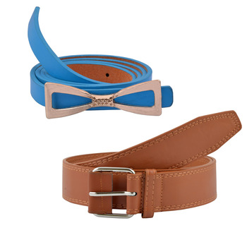 """""""Brown And Blue"""" Belt Combo For Womens"""