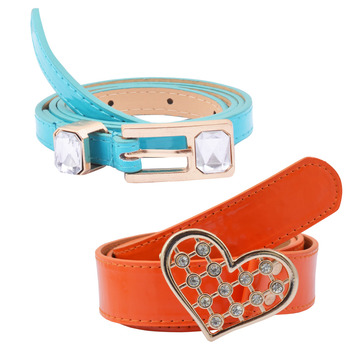 """ Orange And Blue Color"" Belt Combo For Womens"