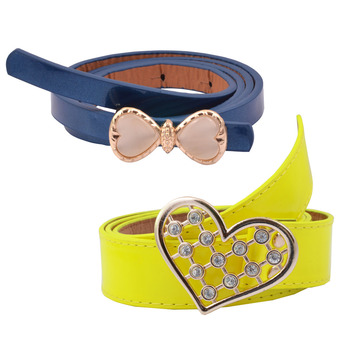 """"""" Yellow And Blue Color"""" Belt Combo For Womens"""