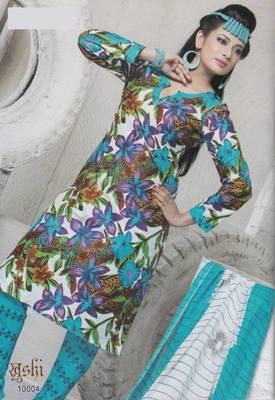 Dress Material Cotton Designer Prints Unstitched Salwar Kameez Suit D.No 10004
