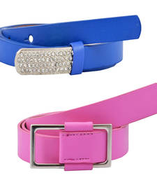 "Buy "" Pink and Blue Color"" Belt Combo For Womens gifts-for-sister online"