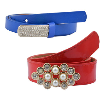 """"""" Blue And Red Color"""" Belt Combo For Womens"""