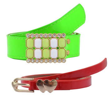 """"""" Floroscent Green And Red Color"""" Belt Combo For Womens"""