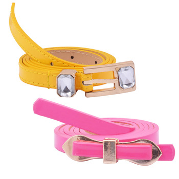 """ Yellow And Pink Color"" Belt Combo For Womens"