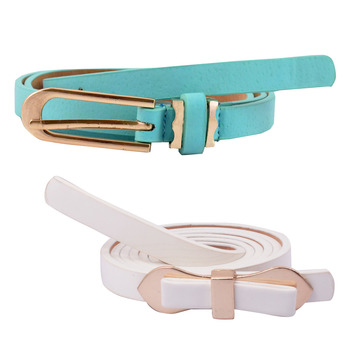 """"""" White And Blue Color"""" Belt Combo For Womens"""