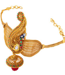 Buy Intricately Crafted Peacock Gold Plated Bajuband For Women bajuband online