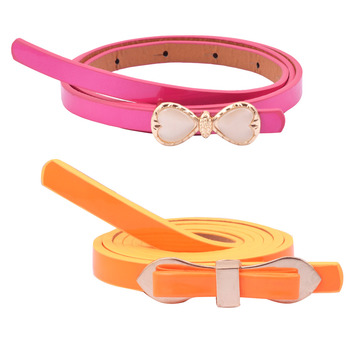 """ Orange And Pink Color"" Belt Combo For Womens"