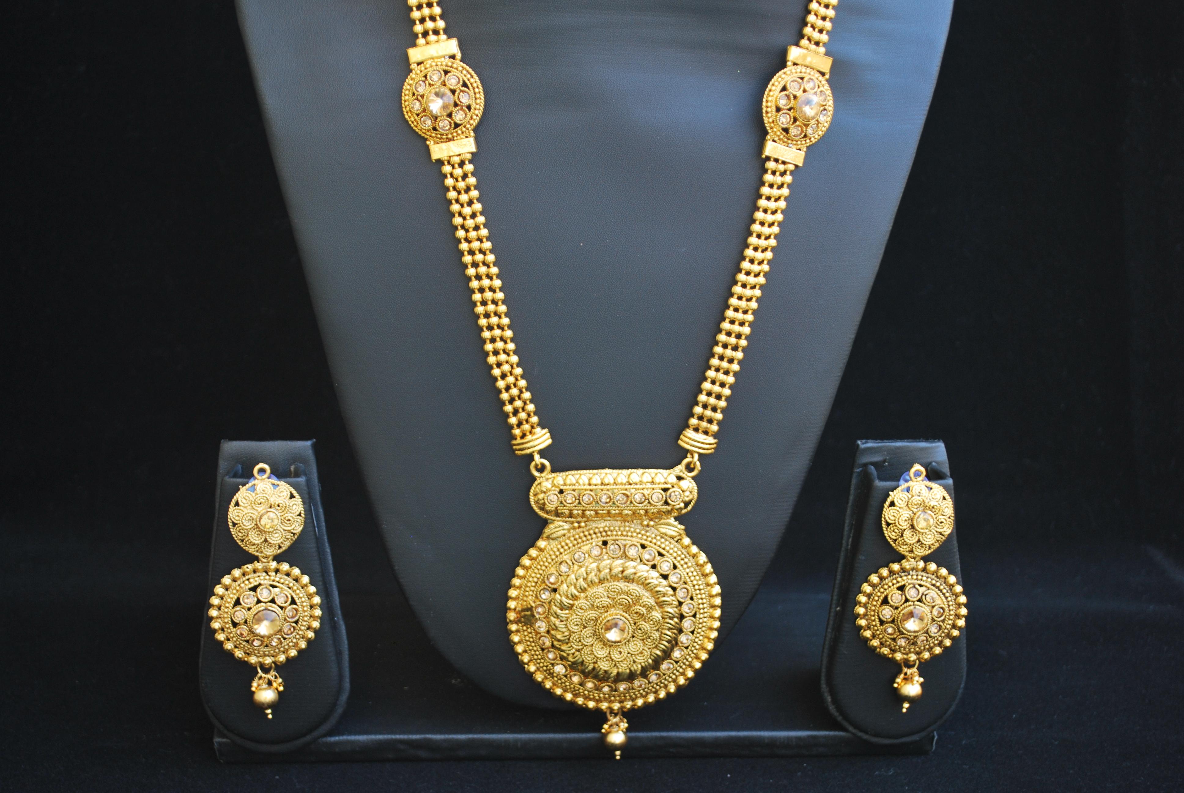 Buy Fine design long necklace set Online