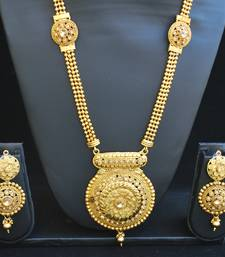 Buy Fine design long necklace set south-indian-jewellery online