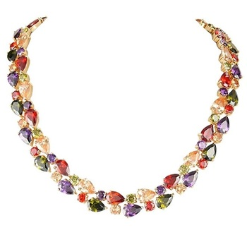Multicolor Cubic Zirconia Necklaces