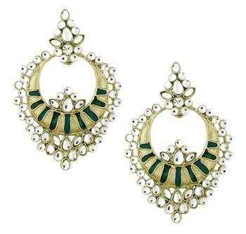 Gold studded jewellery studs
