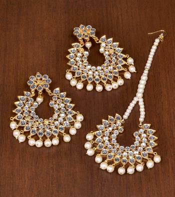 White pearl danglers-drops