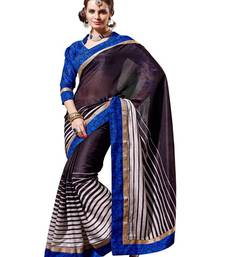 Buy Blue Art Silk Exclusive Partywear Saree art-silk-saree online