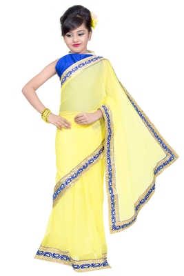 kids ready to wear pre stitched saree and blouse
