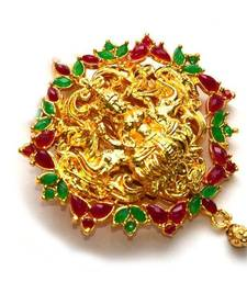 Buy Anvi's lakshmi pendent with rubies and emeralds Pendant online