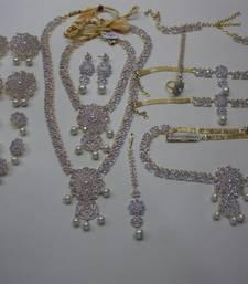 Buy Multicolor Silver Yellow Gold american_diamonds bridal-sets bridal-set online
