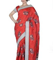 Buy Traditional Red Silk  Saree with Blouse silk-saree online