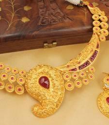 Royal 1 Gram Goldplated Bridal Choker Necklace Set