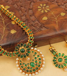 Beautiful Antique Green Necklace Set