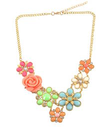 "Buy "" A Single Rose Can Be My Garden"" Statement Necklace For Women's collar-necklace online"