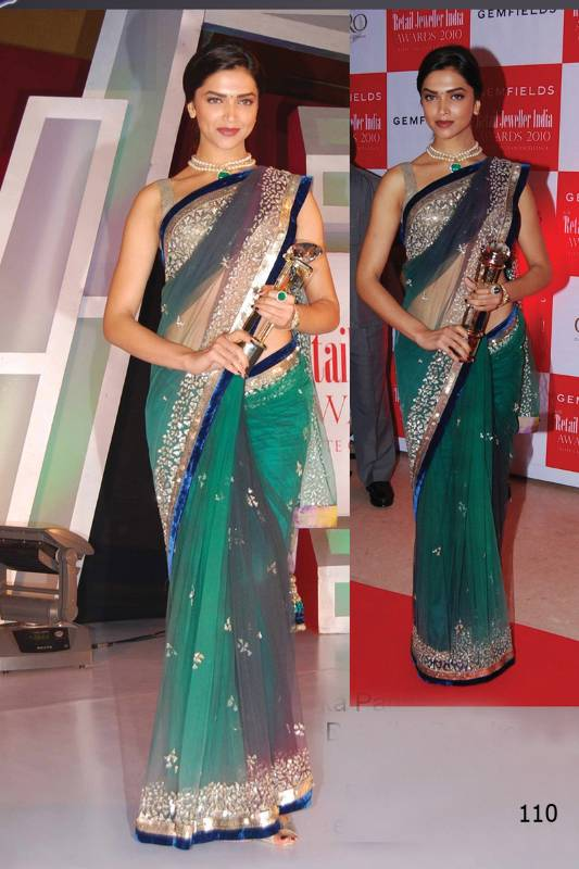788b2b6763 Deepika Padukone Bollywood Replica Saree - Try n Get - 217396