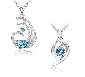 Blue crystal jewellery-combo