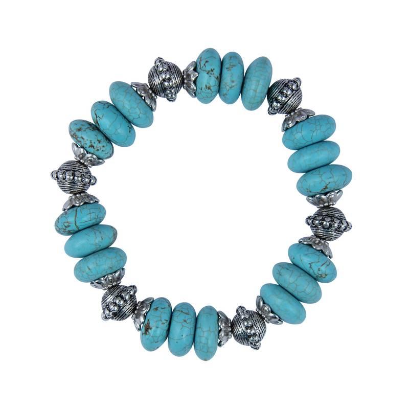 Kanjivaram Beads: Designer Roundel Shaped Mosaic Beads Stretchable 7.5