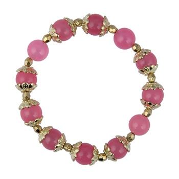 Pink Quartz Beads Stretchable Bracelet