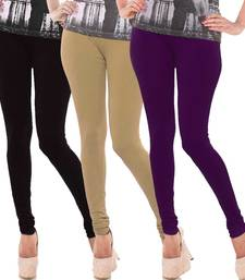 Multicolor Churidar Komal 3Pc Cotton Leggings
