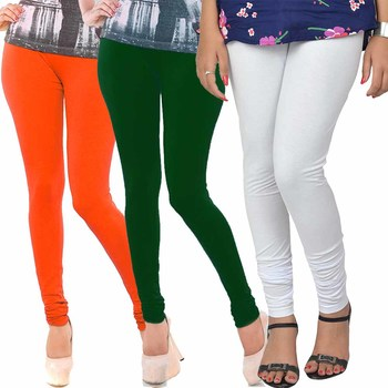 Multicolor Churidar Komal 3Pc Cotton Leggings