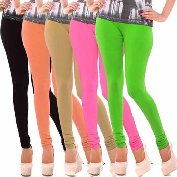 Multicolor Churidar Komal 5Pc Cotton Leggings