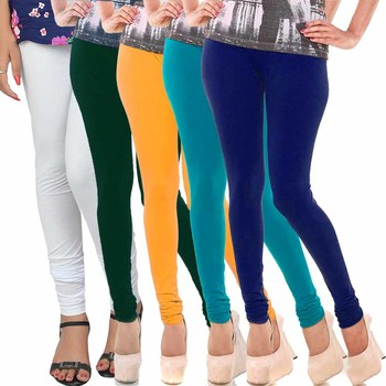 Multicolor Churidar Komal 5Pc Cotton Leggings