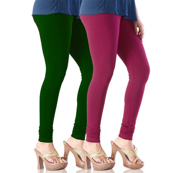 Maroon n Green Churidar Komal Cotton Leggings