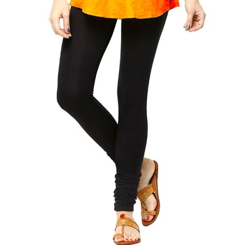 Black Churidaar Komal Cotton Leggings 203