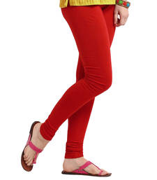 Pretty Red Churidar Komal Cotton Leggings 216