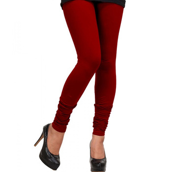 Dark Red Churidaar Komal Cotton Leggings 217