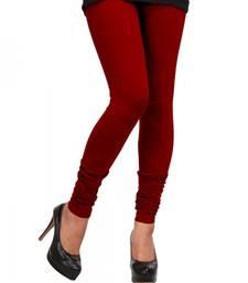 Dark Red Churidaar Komal Cotton Leggings 217