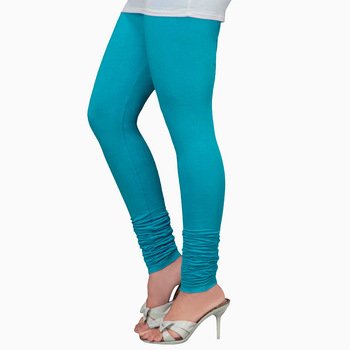 Turquoise Churidaar Komal Cotton Leggings 220