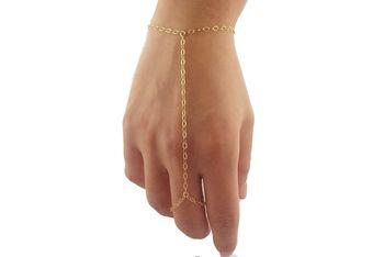 Simple Golden Chain Hathphool