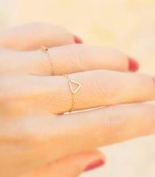 Triangular Golden Chain Ring