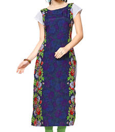 Buy multicolor printed crepe stitched kurti long-kurti online