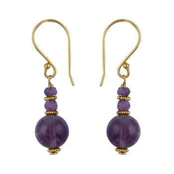 Facinate Amethyst And  African Amethyst Beads Earrings For Women