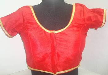 Dupion Silk Saree Blouse  X193R Red Muhenaera Presents Vamas Designer Collection