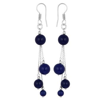 Blue Jade Drop Earrings For Women