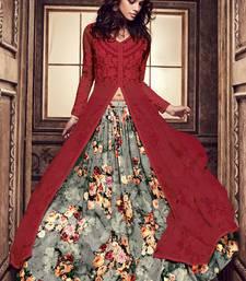 Buy Maroon resham embroidery georgette salwar pakistani-salwar-kameez online