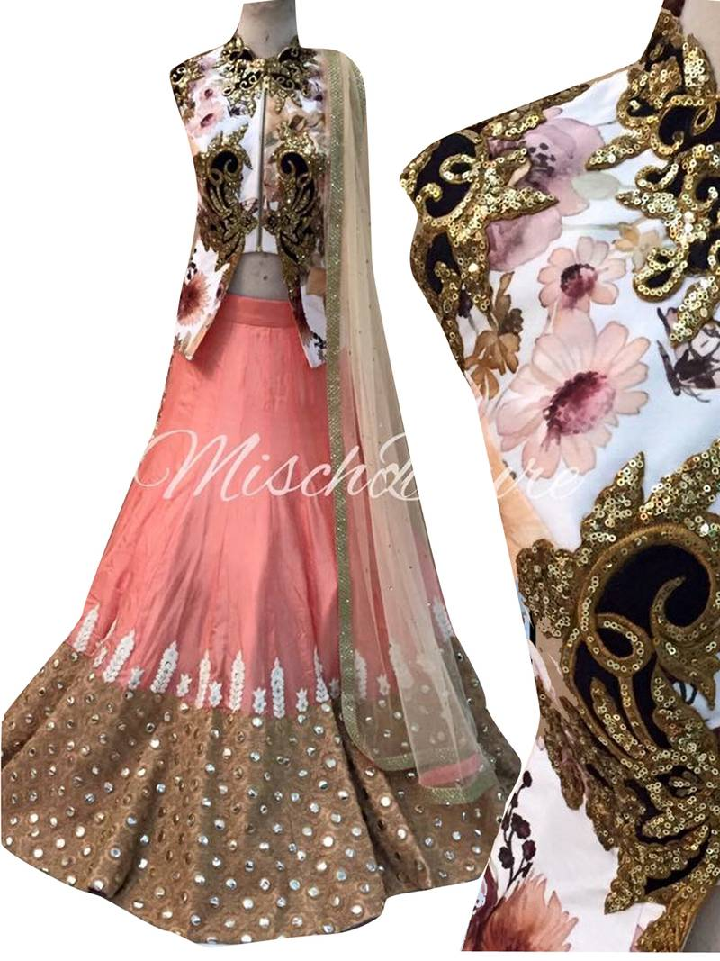 Pich Embroidered Micro Velvet Lehenga With Choli Saree Point 1725009