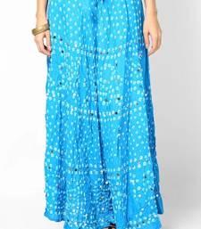 Buy Turquoise Bandhej Hand Work Skirt skirt online
