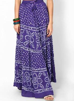 bandhej hand Work Cotton Long Skirt