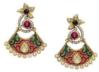 Multicolor Diamond Danglers Drops