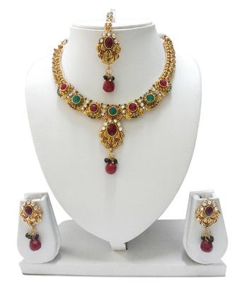 Multicolor Diamond Necklace Sets